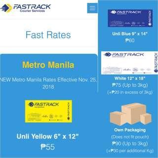 FASTRACK COURIER Metro Manila NEW RAtes