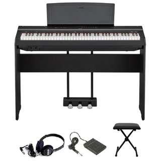 Yamaha P121 73-full-weighted-key digital piano + FC5 pedal + discounted accessories (limited time)