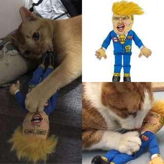Brand New Fuzzu Donald Trump Cat Nip Toy catnip