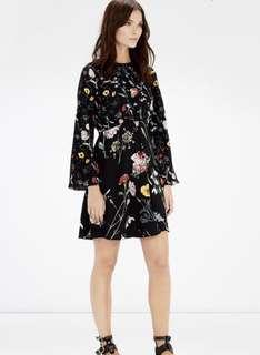 Warehouse Floral Dress Long Sleeves