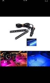 2 In 1 Universal Car LED  Lamp Car Interior Floor Foot Decoration Atmosphere Light Bar Car Auto Romantic Decoration Lamp Kit 12V