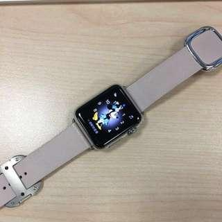 Quick Deal 240/Apple Watch 38mm 316L Stainless Steel With Soft Pink Leather(Small)