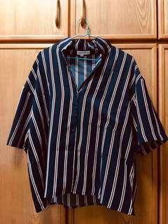 [INCL. POSTAGE] Striped Semi-formal Padini Blouse #POST1111