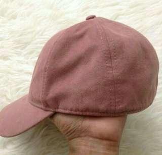 H&M hat suede pink