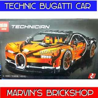 LEPIN 20086C Technic Bugatti Super Car Orange