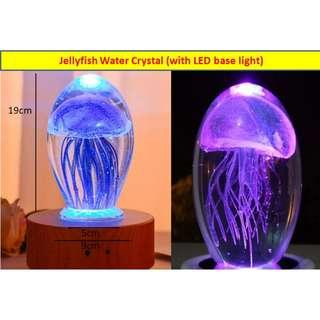 Jellyfish Crystal with Rotating LED lights base Music box (Decoration and Display) Bluetooth/SD Card