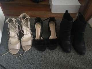 Heels and heeled boots Lipstick and Spurr size 9
