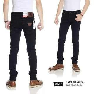 Celana Jeans Pria Skinny / Pensil merk Levi's & Louis