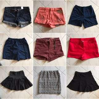 二手短褲短裙