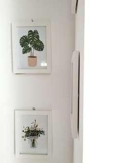 Frame Putih Floral