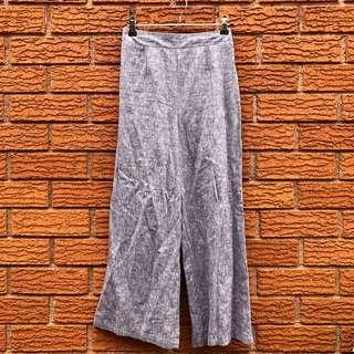 Linen high waisted culottes