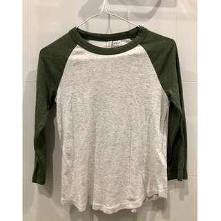 H&M Army Broken White Shirt Baju Putih