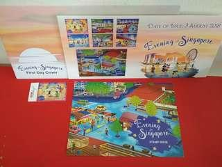 🚚 [WTS]  Brand New Singpost 2018 Evening in Singapore Special Postcard cum First Day Cover Without Stamps cum Local Addressee Stamp Bundle. Suitable For Postcrossing . See All Pics.