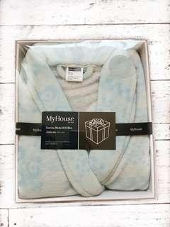 Light Blue Soft Bathrobe Gift Box (one size)