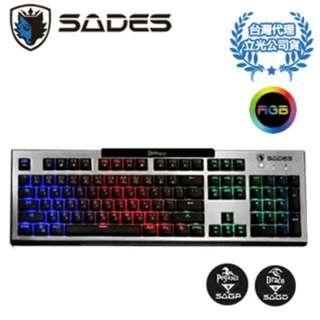 賽德斯 SADES Damascus 大馬士革刀 RGB 青軸 電競鍵盤