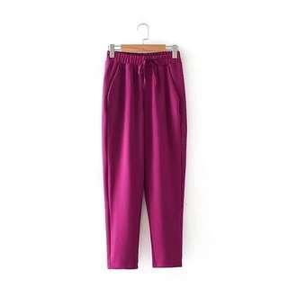Magenta String Pants