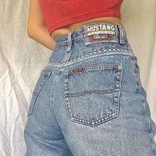 VINTAGE HIGH WAISTED MUSTANG JEANS