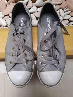 CONVERSE Woman gray leather