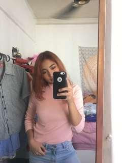 Pink Monki High Neck Shirt #POST1111