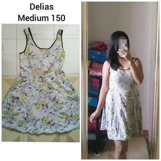 Yellow-Gray Floral Dress