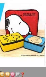 [New] E zone magazine Snoopy旅行收納袋套裝1套三件