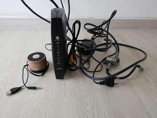 Cable Modem and Bluetooth speaker