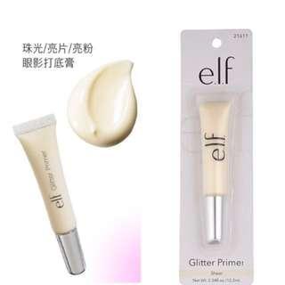 🚚 全新✨美國e.l.f elf glitter primer 適用 亮片/微亮粉/珠光 眼影打底膏 顯色持久 10.2ml