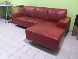 (Reserved ) Armadio L Shape Red Sofa