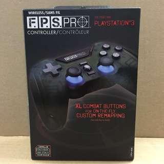 PS3  MADCATZ F.P.S. 黑色無線手制 ( 瑕疵品 )