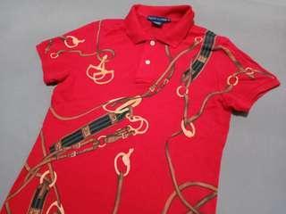 Ralph lauren equestrian print polo shirt