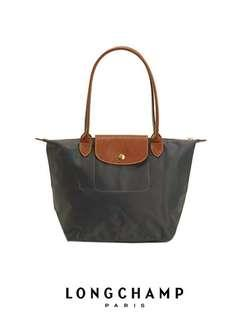💝HOT DEAL! LONGCHAMP LE PLIAGE TOTE 2605089 SMALL/LONG HANDLE (GRAPHITE) READY STOCK