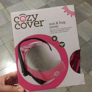Cozy Cover for Baby Car seat in Pink