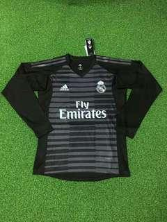 Real Madrid 18-19 Goalkeeper Home Long Sleeve Kit