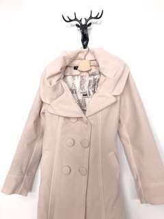 純棉長版修身外套
