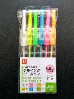 Pastel gel pens 6 pack