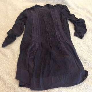 100% Silk Rebecca Taylor Minidress / Tunic top