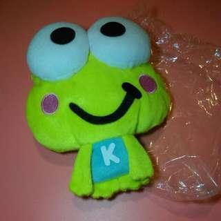 Keroppi 大眼青蛙 sanrio PANSONWORKS 小公仔 SEGA 景品 小掛袋 BAG 可放零錢 或 八達通