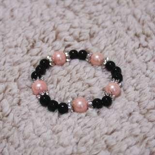 Pink & Black Bracelet