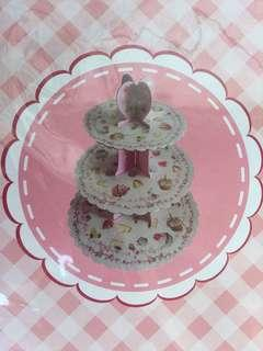 3 Layer Card Board Cupcake Stand
