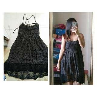 Sexy Back Black Lacey Dress, Forever 21