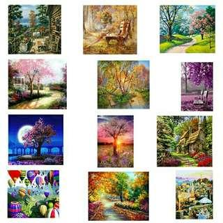 ONHAND DIY PAINT BY NUMBERS LANDSCAPE 2ND SET