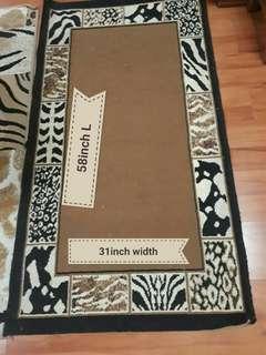 Leopard Carpet 58inch L X 31inch width