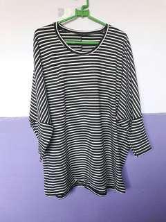 Stripe batwing Tshirt