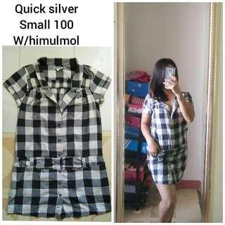 Checkered Black-White Dress
