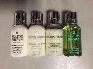 Body lotion, body wash and conditioner