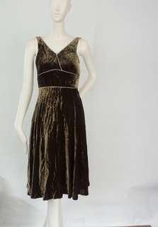 ZARA Bronze Velvet Dress