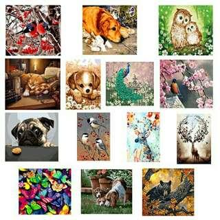 ONHAND DIY PAINT BY NUMBERS ANIMALS 2ND SEt