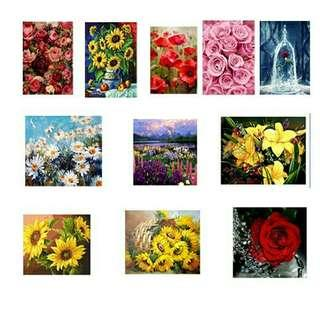 onhand diy paint by numbers flowers 2nd set