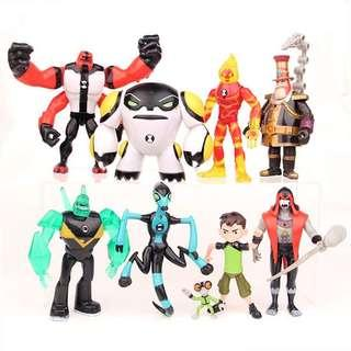 New Ben 10 cake topper toys decoration figurines ben10 heroes monster birthday cake party