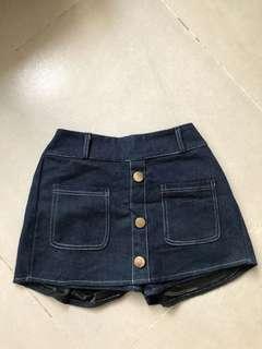 短牛仔裙褲